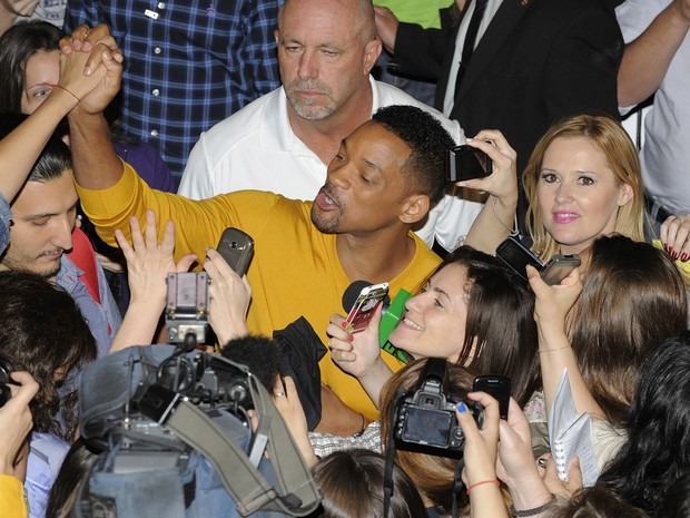 Will Smith em entrevista coletiva em Buenos Aires, Argentina (Foto: Lalo Yasky/ Getty Images)