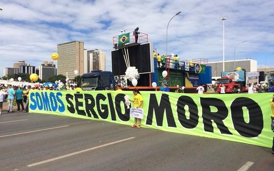 Manifestação do dia 13 de março em Brasília. Apoio a Sergio Moro (Foto: ÉPOCA)