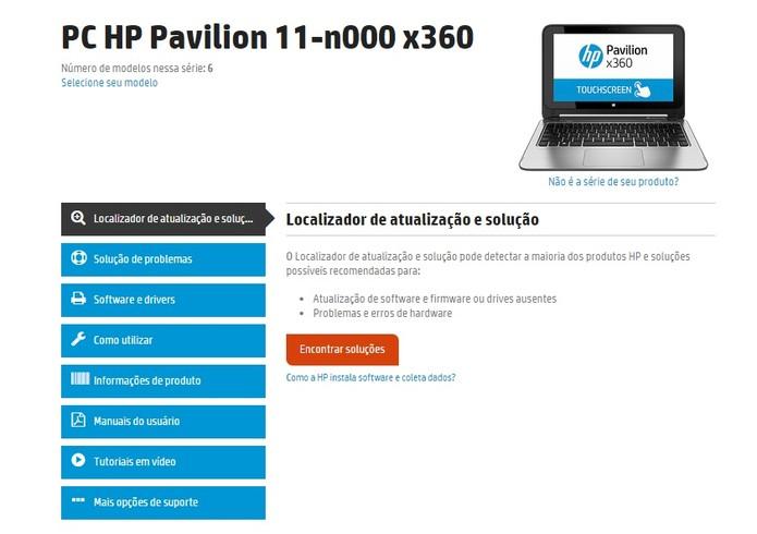 Tanto a HP quanto a Asus possuem atendimento online personalizado para o produto (Foto: Reprodução/HP)