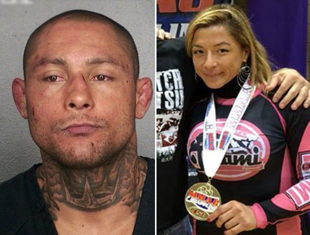 montagem Thiago Silva UFC ex-esposa, Thaysa Silva (Foto: Editoria de Arte)