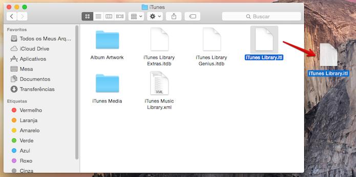 Arraste o arquivo para a área de trabalho (Foto: Reprodução/Helito Bijora)