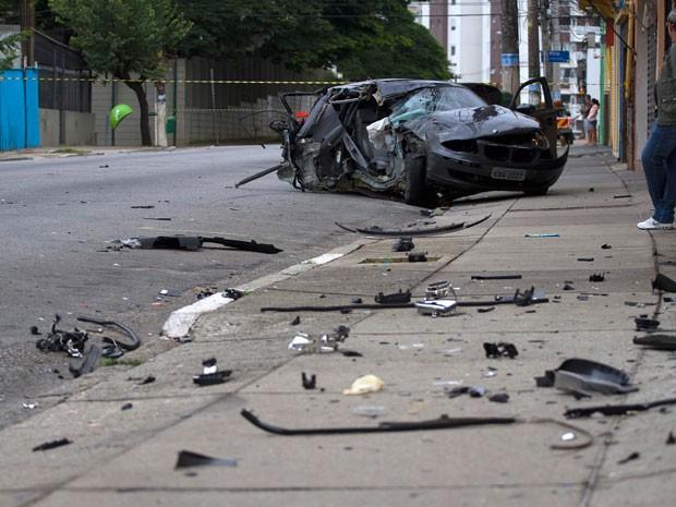 Acidente com BMW aconteceu na Avenida Imirim (Foto: Mario Ângelo/Sigmapress/Estadão Conteúdo)