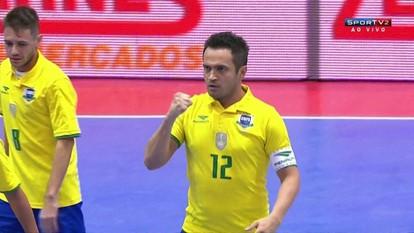 Os gols de Brasil 2 x 1 Argentina pelo Sul-Americano de futsal