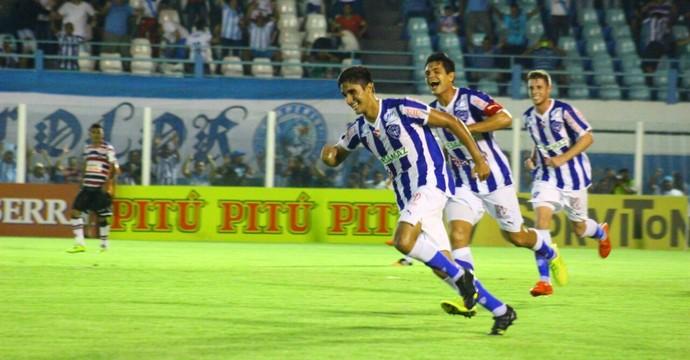 Paysandu x Santa Cruz - gol Thiago Martins (Foto: Fernando Torres/Ascom Paysandu)