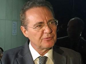 O presidente do Senado, Renan Calheiros (PMDB-AL), durante entrevista nesta terça-feira (4) (Foto: ane de Araújo/Agência Senado)
