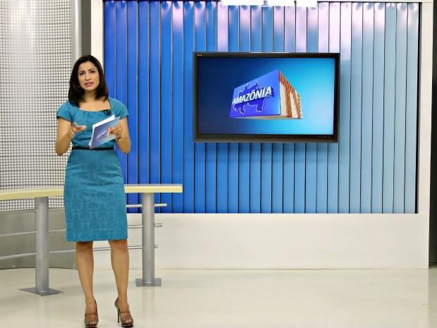 Apresentadora do Amazônia TV Liliane Araújo (Foto: Adneison Severiano G1/AM)