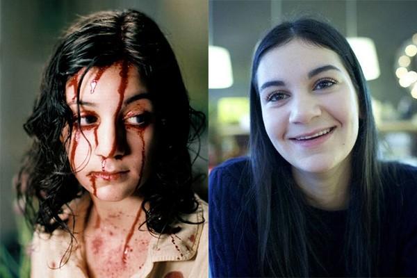Seis anos foram o suficiente para Lina Leandersson mudar bastante. Olha a diferença entre ela em cena de 'Deixe Ela Entrar', em 2008, e ela no ano passado. (Foto: Divulgação e Reprodução/Facebook)