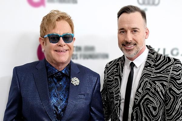 Elton John e David Furnish (Foto: Getty Images)