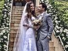 Emílio Orciollo Neto se casa no Rio e curte lua de mel no exterior