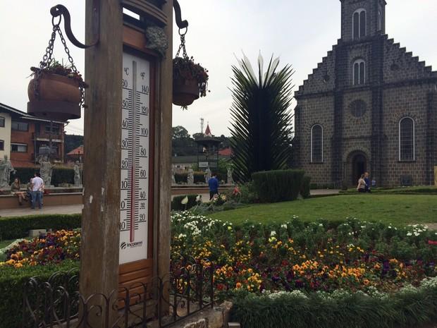 Temperatura mais amena deve permanecer durante o fim de semana de premiação em Gramado (Foto: Rafaella Fraga/G1)