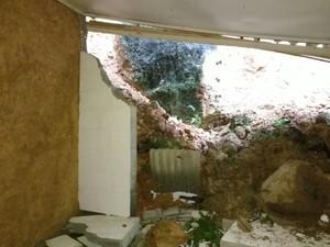 Chuva voltou a cair forte sob SC, que já registra prejuízos (Foto: Defesa Civil/Divulgação)