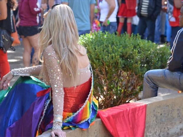 Parada LGBT em Campinas leva milhares ao centro (Foto: Marina Ortiz/G1)