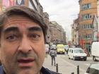 Em Bruxelas, Zeca Camargo diz: 'Conheceu o terror de perto'