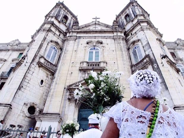 Lavagem do Senhor do Bonfim começa na Igreja da Conceição da Praia (Foto: Mateus Pereira/GOVBA)