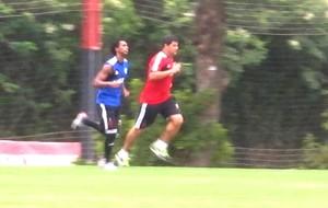 Luiz Antonio do Flamengo treinando (Foto: Thales Soares)