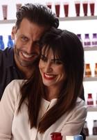 Cleo Pires e Henri Castelli gravam campanha de beleza em São Paulo