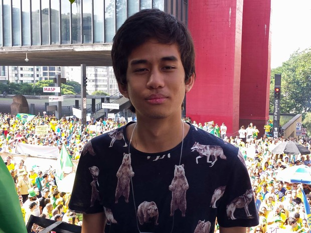 Kim Kataguiri, um dos organizadores do Movimento Brasil Livre (MBL) (Foto: Letícia Macedo/G1)