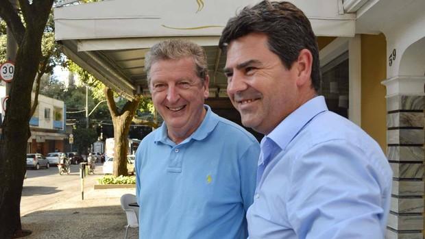 Roy Hodgson e Adrian Bevington em Belo Horizonte (Foto: Divulgação / Assessoria Secopa/MG)