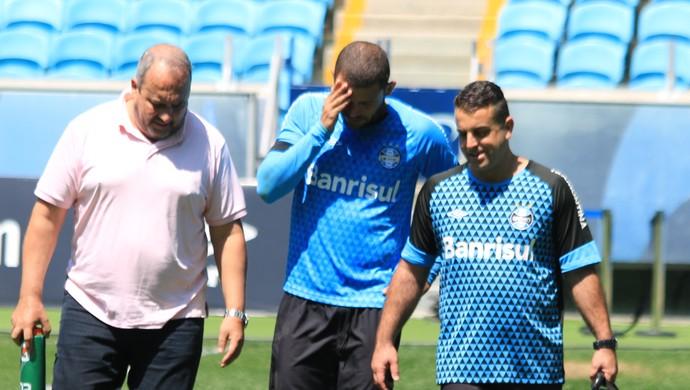 Edinho Paulo Rabaldo Grêmio (Foto: Eduardo Moura/GloboEsporte.com)