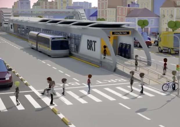 Expectativa é que a obra do BRT comece no 2º semestre deste ano em São José (Foto: Divulgação/Pref.SJC)
