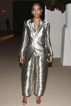 Solange Knowles em prêmio de moda em Nova York, nos Estados Unidos (Foto: Nicholas Hunt/ Getty Images/ AFP)