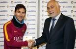 Messi leva prêmio de melhor jogador do mês na Espanha pela primeira vez (Divulgação / Liga BBVA)