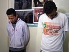 Suspeitos de roubo são presos na capital (Iryá Rodrigues/G1)