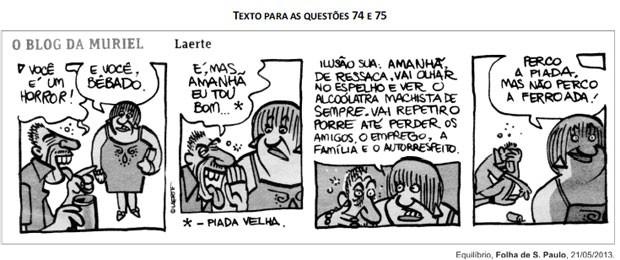Tira do cartunista Laerte que caiu na prova da Fuvest (Foto: Reprodução/Fuvest)