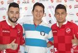Thiago Silvy e Paulinho, atacantes do Vila Nova