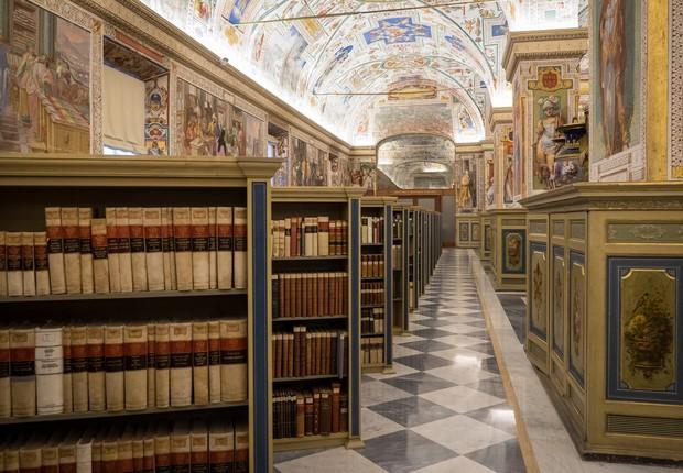 Salone Sistino da Biblioteca Apostólica Vaticana (Foto: Reprodução/Facebook)