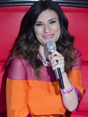 Laura Pausini durante coletiva de imprensa do 'The Voice' do México nesta quinta-feira (7) (Foto: Eduardo Verdugo/AP Photo)