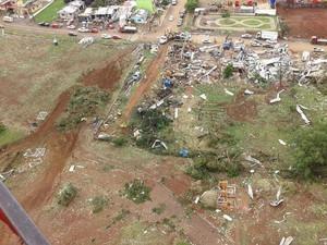 Dia 21: algumas áreas em Xanxerê foram varridas pelo vento (Foto: BOA/Divulgação)