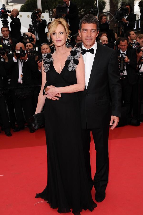 A atriz Melanie Griffith e o ator Antonio Banderas (Foto: Getty Images)