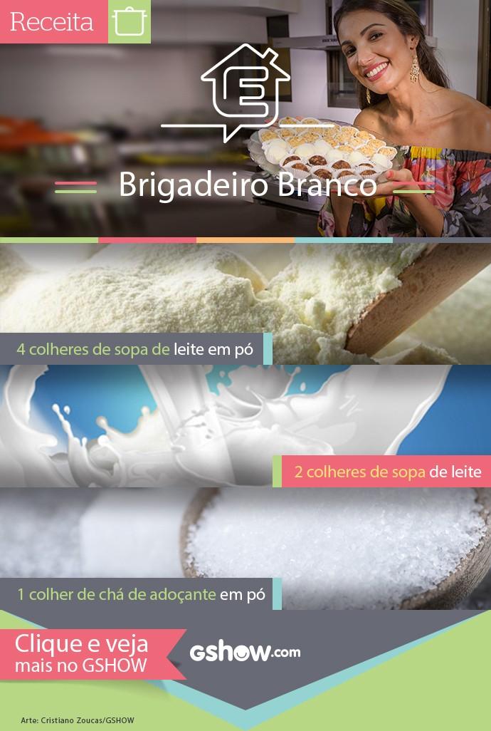 Aprenda receita de brigadeiro branco com Patríca Poeta (Foto: TV Globo)