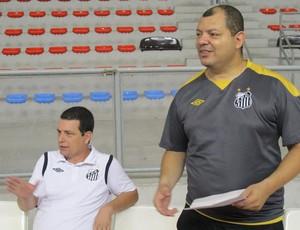 Edu Martins Técnico Sub-17 Santos  (Foto: Bruno Gutierrez / Globoesporte.com)