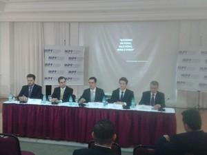 Denúncia contra José Dirceu foi apresentada em coletiva do Ministério Público Federal (Foto: Thais Kaniak/G1)