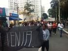 Manifestantes protestam contra reajuste da tarifa de ônibus em S. José
