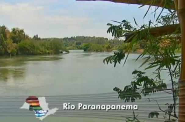 Rio Paranapanema (Foto: Reprodução / TV TEM)