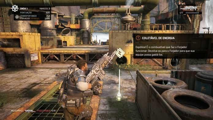 Detone inimigos e colete energia em Gears of War 4 (Foto: Reprodução/Murilo Molina)