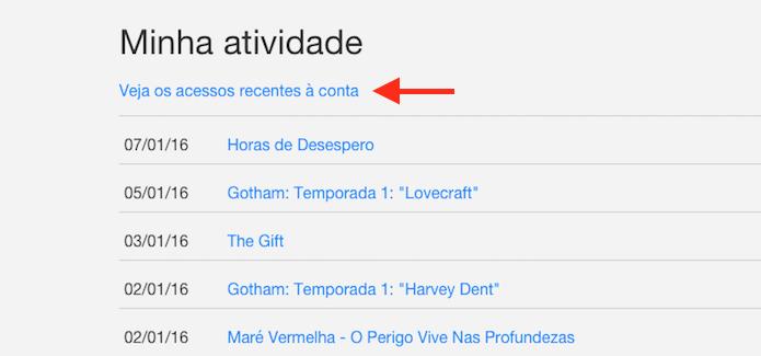 Seguindo até a tela de acessos a uma conta do Netflix (Foto: Reprodução/Marvin Costa)
