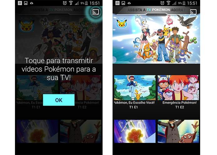 TV Pokemon pode ser transmitida pelo Chromecast (Foto: Reprodução/Barbara Mannara)
