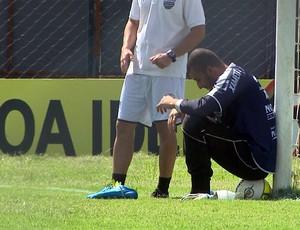 Alex treina antes de pegar o Guaratinguetá (Foto: Reprodução EPTV)