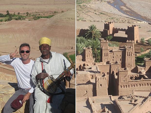 Passeio do ator Marcelo Valle pelo Marrocos, após o filme (Foto: Marcelo Valle/Arquivo pessoal)