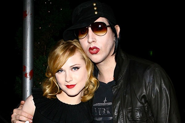 Evan Rachel Wood e Marilyn Manson (Foto: Getty Images)