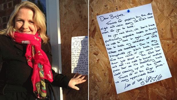 Mulher Escreve Carta Irônica Para Ladrões Que