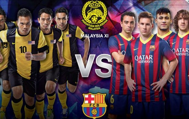 Cartaz de jogo do Barcelona na Malásia com Neymar (Foto: Divulgação/Barcelona)