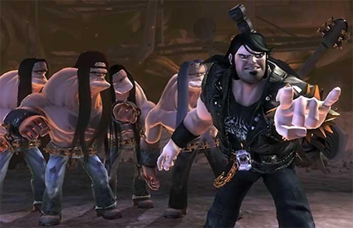 Eddie Riggs e seus amigos em Brutal Legend (Foto: Divulgação/EA)