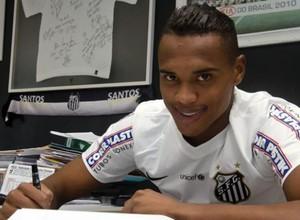 John Victor goleiro Santos (Foto: Dennis Calçada / Santos FC )