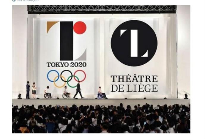 Logo Tóquio 2020 suposto plágio Teatro de Liége (Foto: Reprodução Twitter)