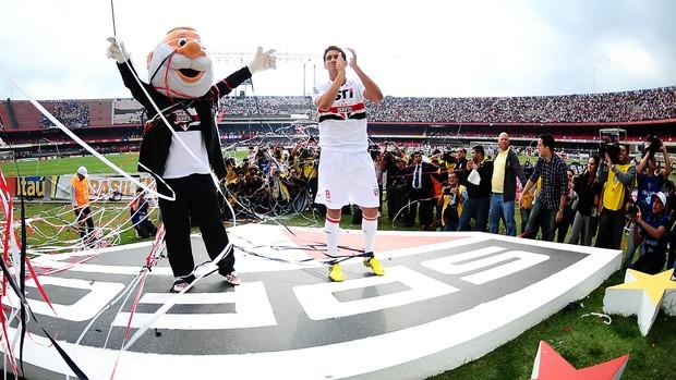 ganso são paulo apresentação (Foto: Marcos Ribolli / Globoesporte.com)